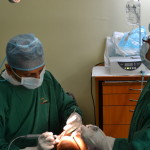 During the implant procedure